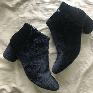 Velvet ankle boots by JustFab